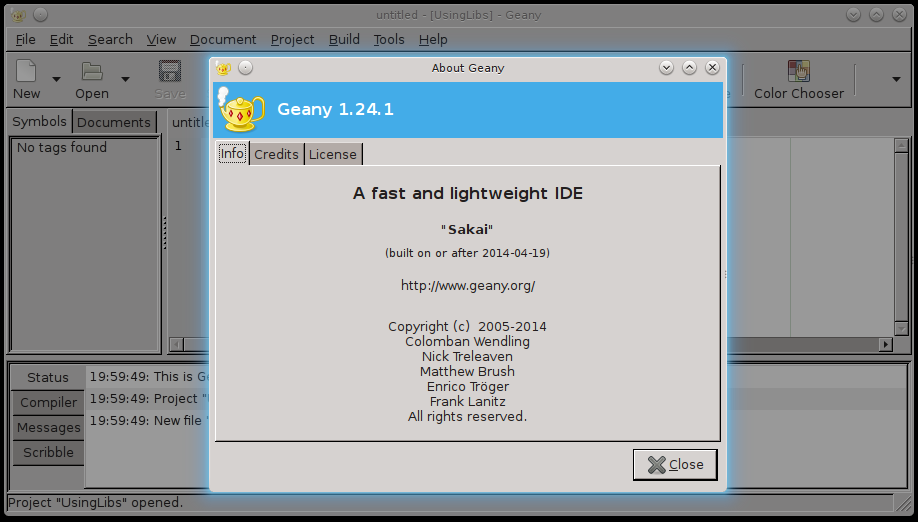 Geany is a good C programming software for Linux