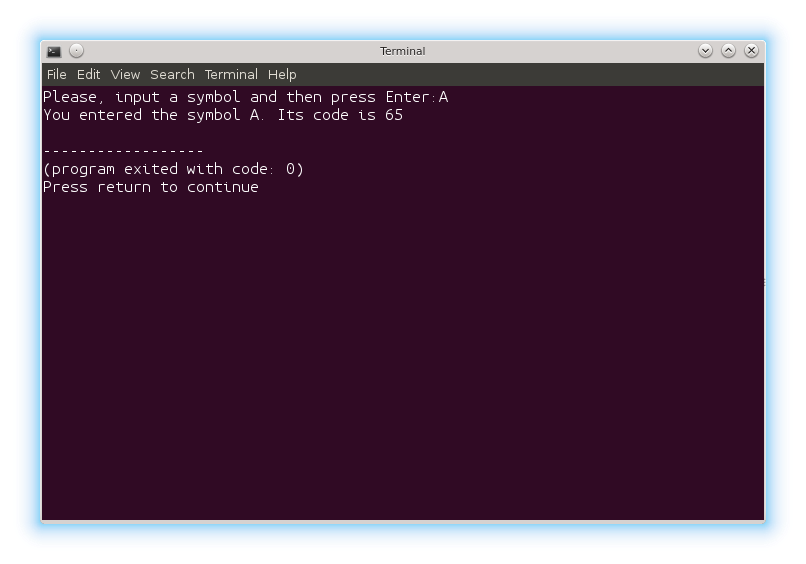Printing the ASCII code of a char variable in C